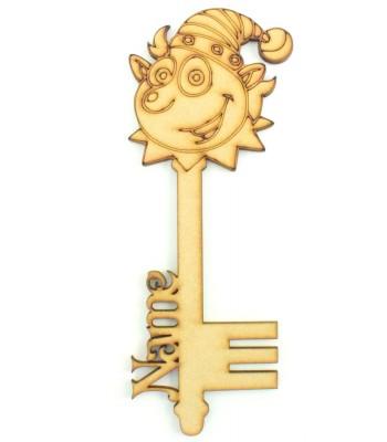 Laser Cut Personalised Magic Detailed Elf Christmas Key