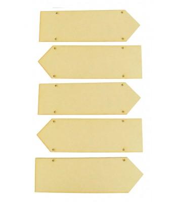 Laser Cut Plain Direction Arrows - BULK BUY - 6 sets