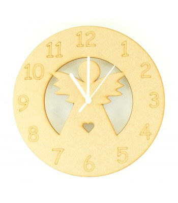 Laser cut Angel Clock with Clock Mechanism
