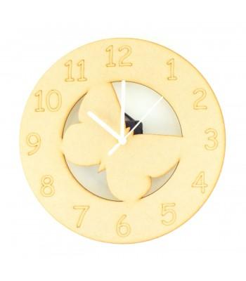 Laser cut Butterfly Clock with Clock Mechanism