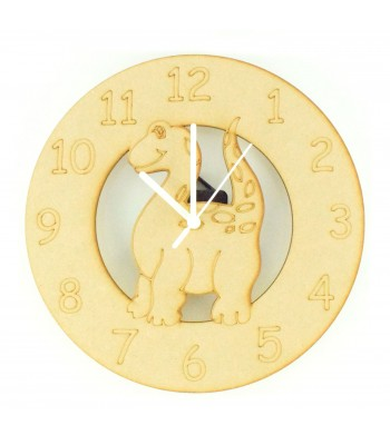 Laser cut Dinosaur Clock with Clock Mechanism