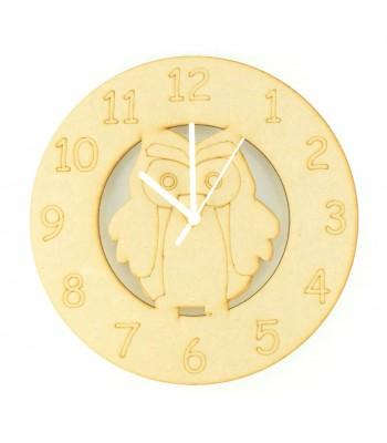 Laser cut Owl Clock with Clock Mechanism