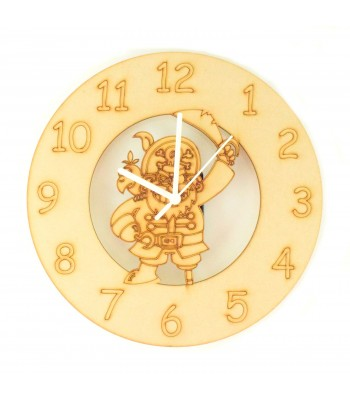 Laser cut Pirate Clock with Clock Mechanism