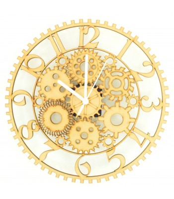Laser cut Steampunk Clock with Clock Mechanism