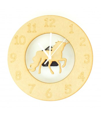 Laser cut Unicorn Clock with Clock Mechanism