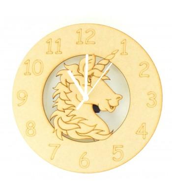 Laser cut Unicorn Head Clock with Clock Mechanism