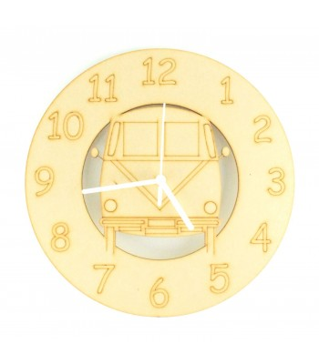 Laser cut VW Camper Clock with Clock Mechanism