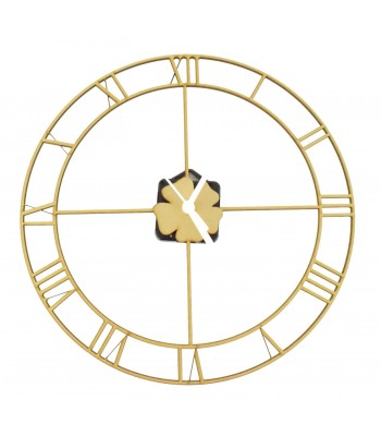 Laser Cut Roman Numerals Fine Frame Clock with Clock Mechanism