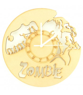 Laser Cut Zombie Clock with Clock Mechanism