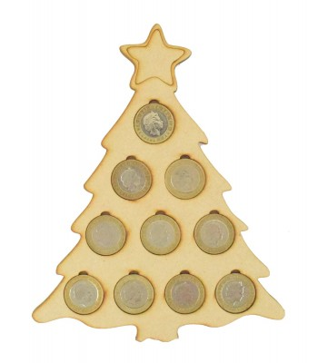 Laser cut Christmas Tree £2 Coin Holder