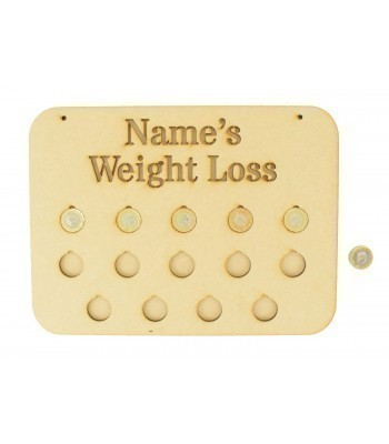 Laser cut Personalised 14lb Weight Loss Chart £1 Coin Holder