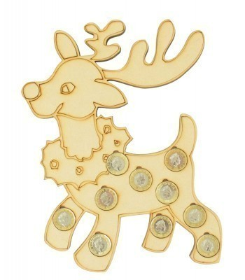Laser cut Christmas Rudolph Reindeer £1 Coin Holder