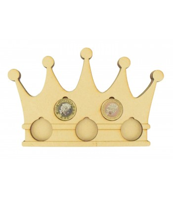 Laser cut Crown £1 Coin Holder