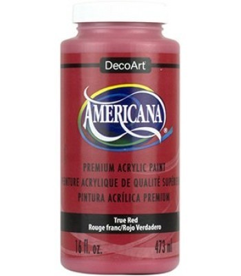 Americana True Red Acrylic Craft Paint Extra Large 16oz