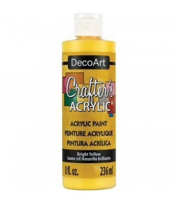 DecoArt Bright Yellow Crafters Acrylic Paint 8oz