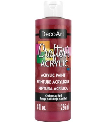 DecoArt Christmas Red Crafters Acrylic Paint 8oz