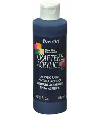 DecoArt Navy Blue Crafters Acrylic Paint 8oz