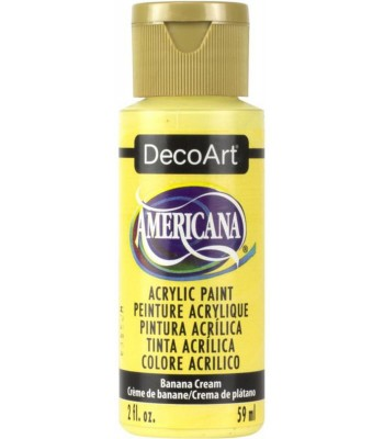 Americana Acrylic Paint - Banana Cream 2oz