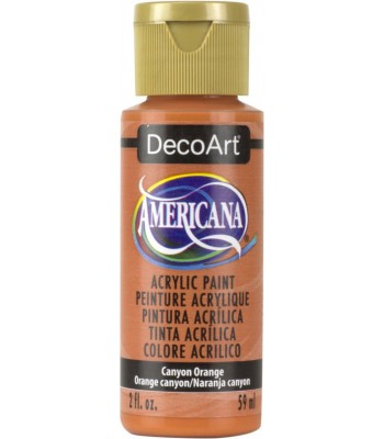 Americana Acrylic Paint - Canyon Orange 2oz