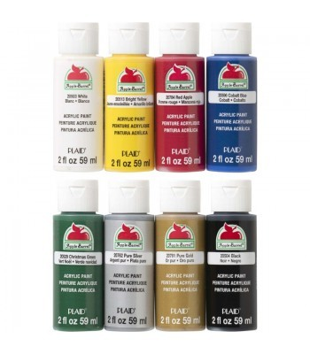 Plaid Apple Barrel Acrylic Paint Top 8 Colours Pack - 2oz
