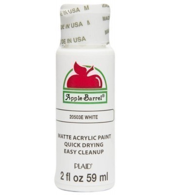 Plaid Apple Barrel Acrylic Paint - White 2oz