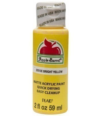 Plaid Apple Barrel Acrylic Paint - Bright Yellow 2oz