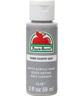 Plaid Apple Barrel Acrylic Paint - Country Grey 2oz