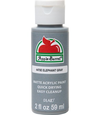 Plaid Apple Barrel Acrylic Paint - Elephant Grey 2oz