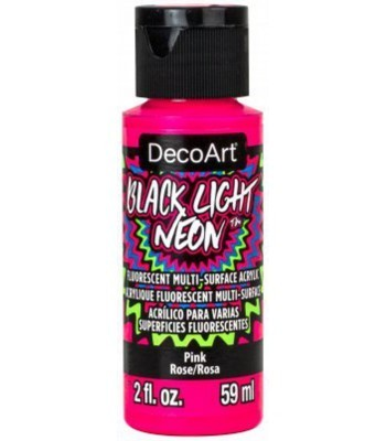 DecoArt Black Light Neon - Pink 2oz