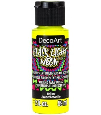 DecoArt Black Light Neon - Yellow 2oz