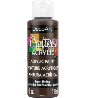 DecoArt Crafters Acrylic - Burnt Umber 2oz