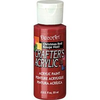 DecoArt Crafters Acrylic - Christmas Red 2oz