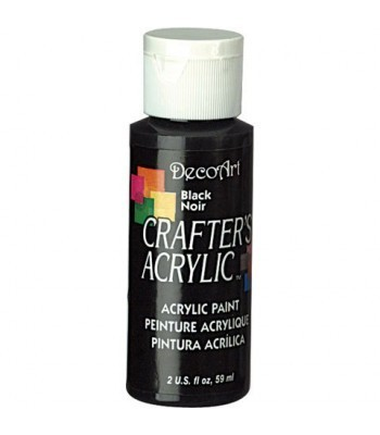 DecoArt Crafters Acrylic - Black 2oz