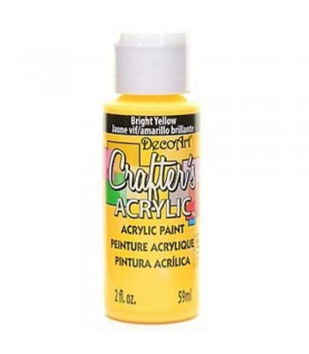 DecoArt Crafters Acrylic - Bright Yellow 2oz