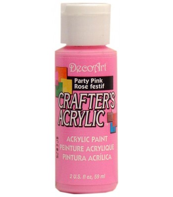 DecoArt Crafters Acrylic - Party Pink 2oz