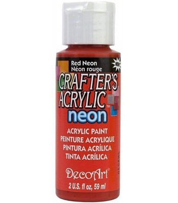 DecoArt Crafters Acrylic Neon - Red 2oz