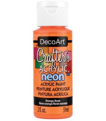 DecoArt Crafters Acrylic Neon - Orange 2oz