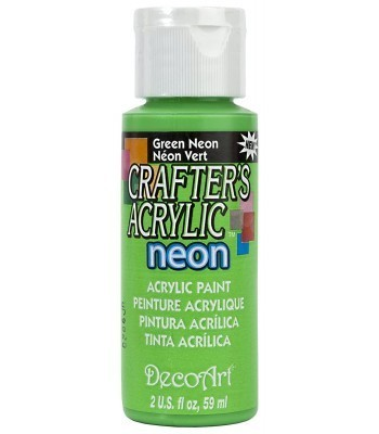 DecoArt Crafters Acrylic Neon - Green 2oz