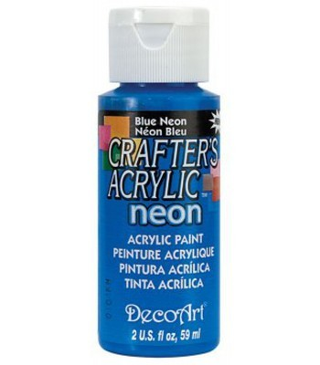 DecoArt Crafters Acrylic Neon - Blue 2oz