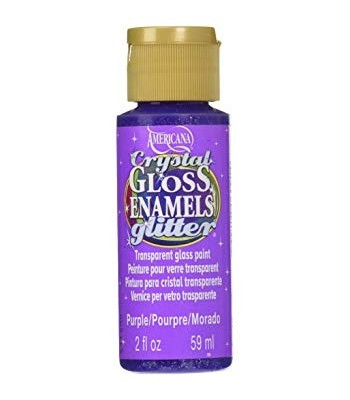 Purple Crystal Gloss Glitter Decoart Americana Enamel Paint 2oz.