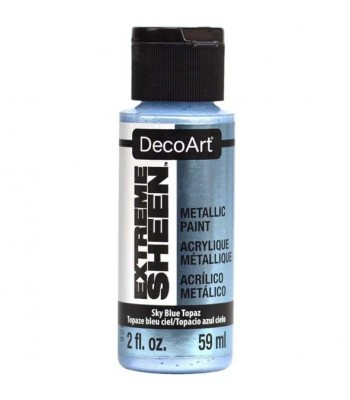 DecoArt Sky Blue Topaz Extreme Sheen Metallic Craft Paints. 2oz