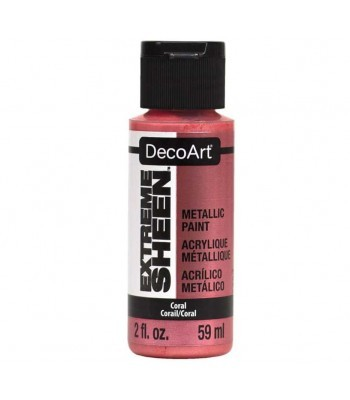 DecoArt Coral Extreme Sheen Metallic Craft Paints. 2oz