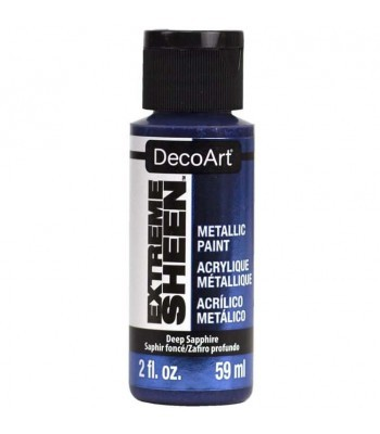 DecoArt Deep Sapphire Extreme Sheen Metallic Craft Paints. 2oz