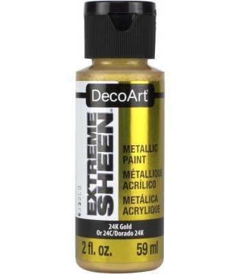 DecoArt 24K Gold Extreme Sheen Metallic Craft Paints. 2oz