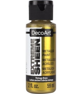 DecoArt Vintage Brass Extreme Sheen Metallic Craft Paints. 2oz