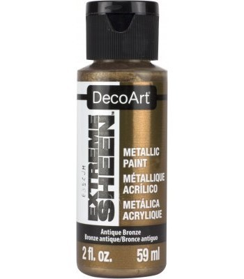 DecoArt Antique Bronze Extreme Sheen Metallic Craft Paints. 2oz