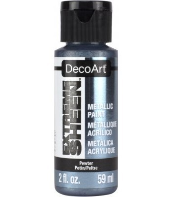 DecoArt Pewter Extreme Sheen Metallic Craft Paints. 2oz