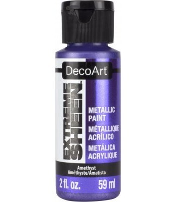 DecoArt Amethyst Extreme Sheen Metallic Craft Paints. 2oz