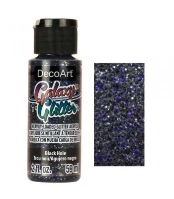 Black Hole Galaxy Glitter Paint - 2oz