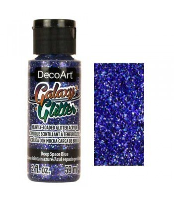 Deep Space Blue Galaxy Glitter Paint - 2oz